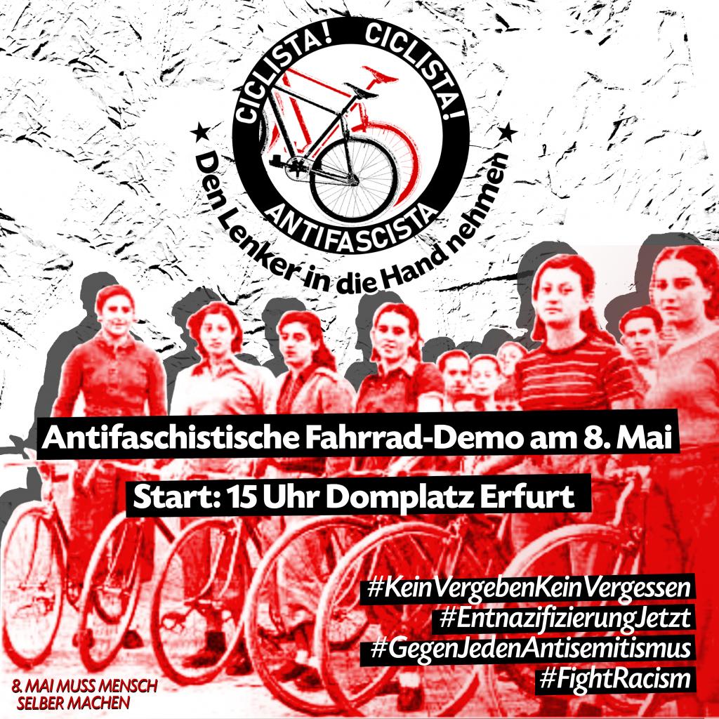 Antifaschistische Fahrrad-Demo am 8. Mai<br /> 15 Uhr Domplatz, Erfurt